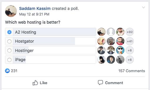 A2 Hosting Facebook Pool Ratings
