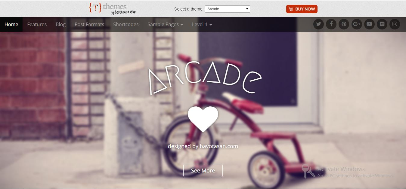 Arcade free wordpress themes 2019