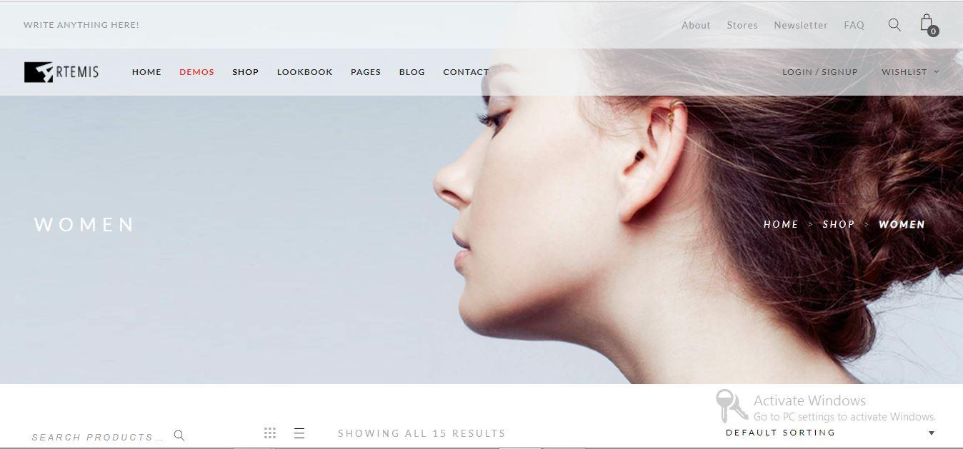 Artemis premium eCommerce theme