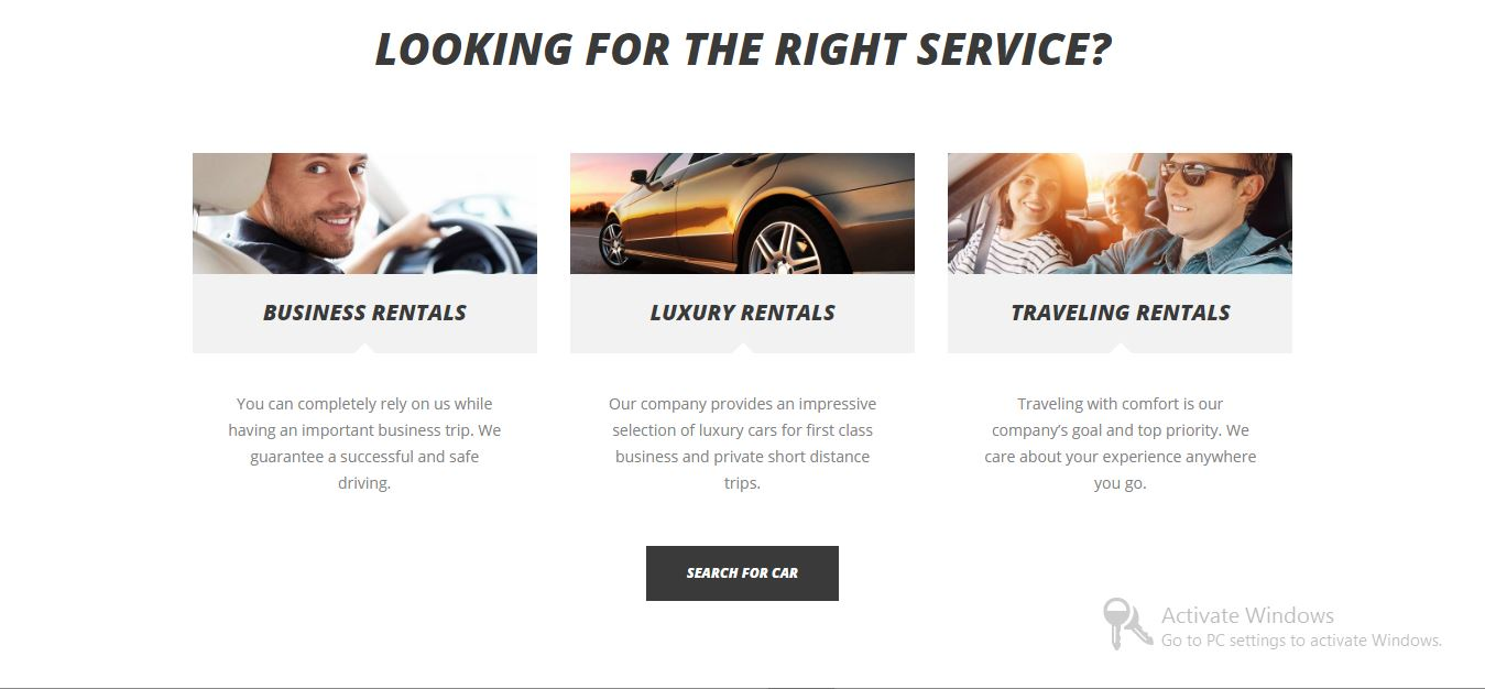 Cars4Rent taxi wordpress website