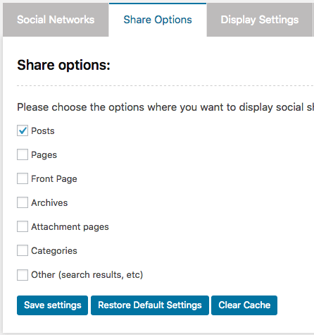 enable social sharing on blog posts