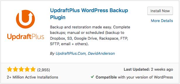 Move WordPress site with Updraft backup plugin