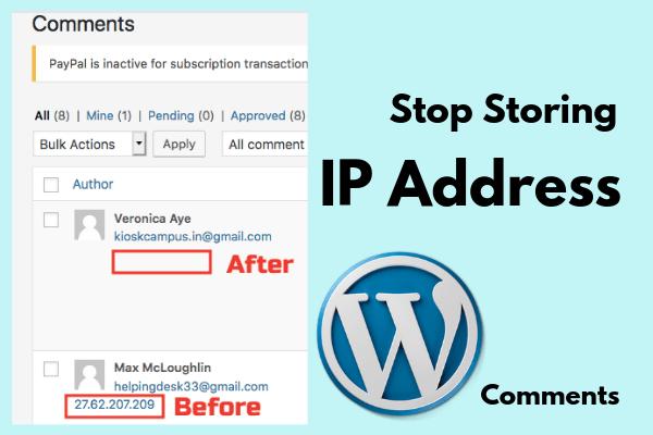 stop storing IP address
