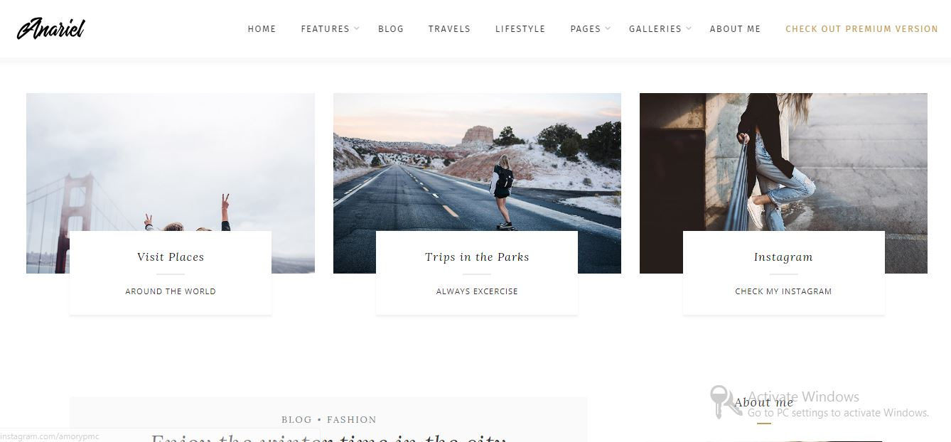 Anariel Lite free wordpress themes 2019