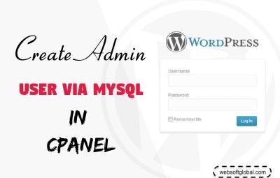 create wordpress admin user