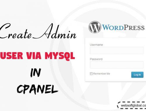 How to Create WordPress Admin User via MySQL