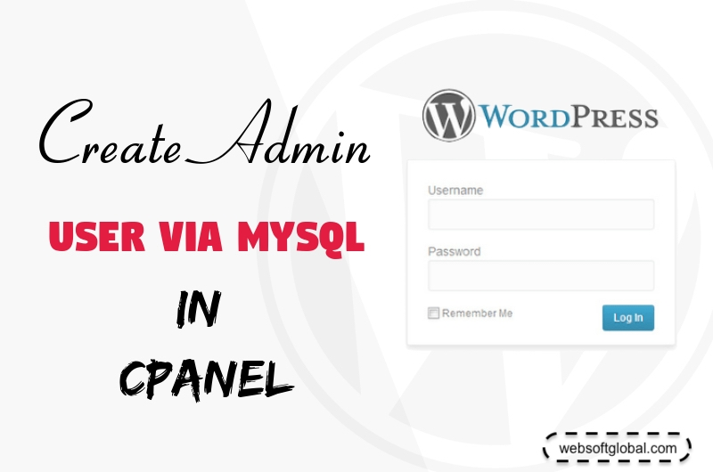 create wordpress admin user