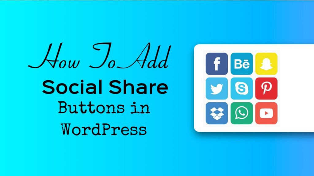 social share buttons in WordPress