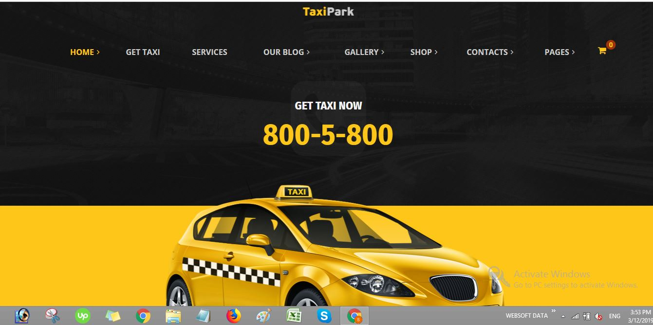 taxipark taxi wordpress theme