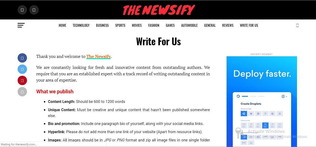 the newsify site