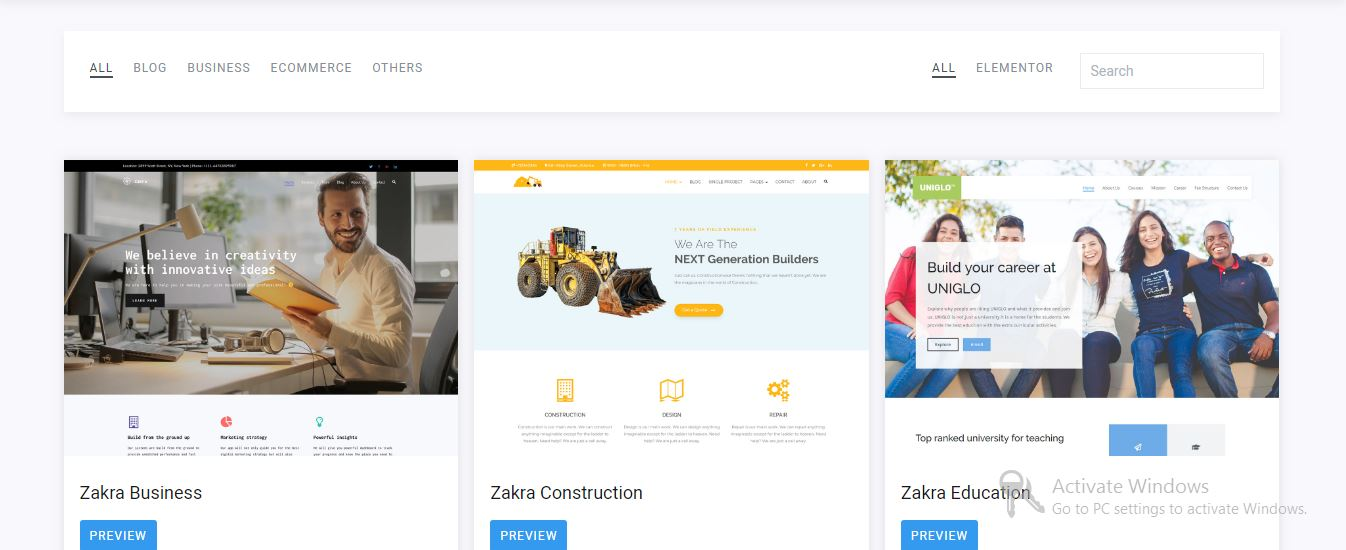 Zakra free wordpress themes 2019
